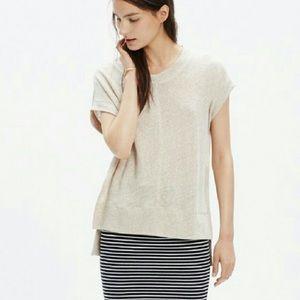 Madewell Linen Side Slit Top